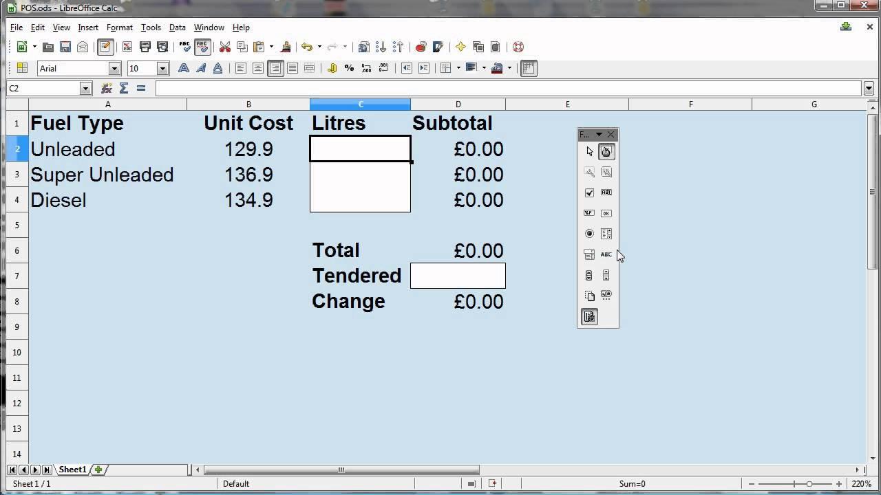 Recording a Macro and Adding a Button in LibreOffice 4