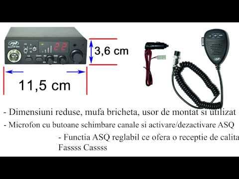 Statie Radio CB PNI Escort HP 8001 ASQ + Antena CB PNI Extra 45 Cu Magnet