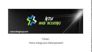 NTSi – Comment changer votre mot de passe cPanel – How to change your cPanel password – 2013