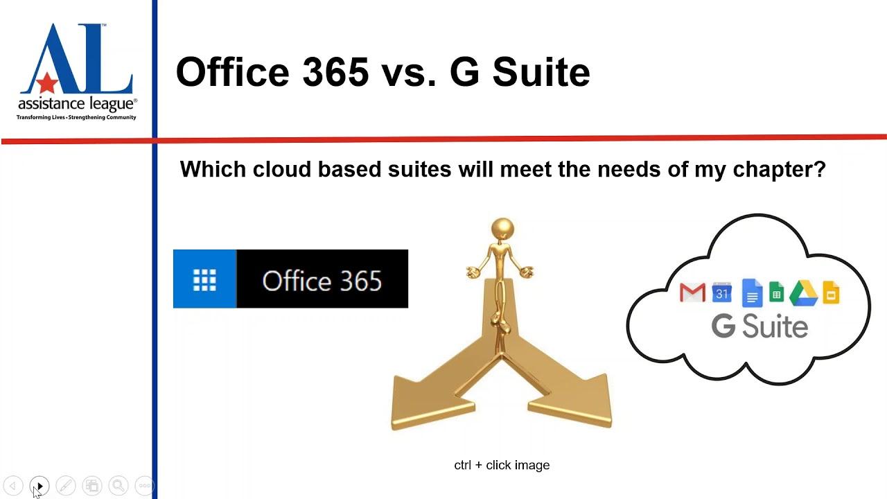 2018 04 16 Office 365 vs G Suite