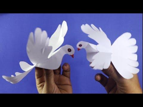 DIY : Paper crafts for kids paper Pigeon || Chander Bari....Easy paper Dove make..!!