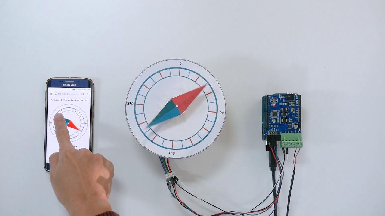 Arduino - Control Position of DC Motor Precisely via Web - PHPoC Forum