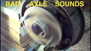 bad 5707 rear axle bearing sounds
