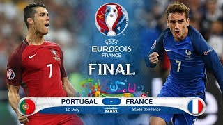 PORTUGAL VS FRANCE GAMEPLAY  FIFA 18......EURO FINAL.........720P....MUST WATCH ITS AMAZING