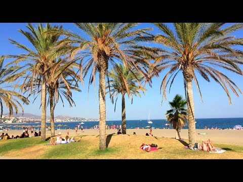 MÁLAGA WALK | Málaga Beach from Marina Seawall | Spain Travel Buzz Videos