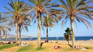 MÁLAGA WALK | Málaga Beach from Marina Seawall | Spain