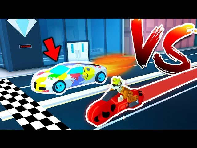 Roblox Jailbreak Volt Bike Volt Bike Vs Every Vehicle Race In Jailbreak Roblox Viral Chop Video