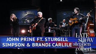 John Prine Ft. Sturgill Simpson And Brandi Carlile Perform 'Summer's End'
