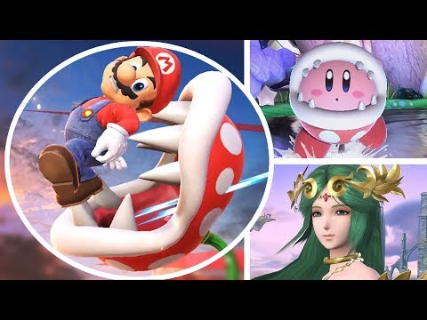 Piranha Plant All Victory Poses, Final Smash, Kirby Hat & Palutena Guidance in Smash Bros Ultimate