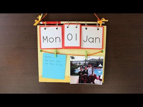 How To Create A Multifunctional Calendar - DIY Crafts Tutorial - Guidecentral