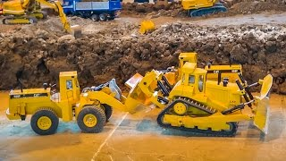 RC truck and excavator action at the world largest R/C construction site!