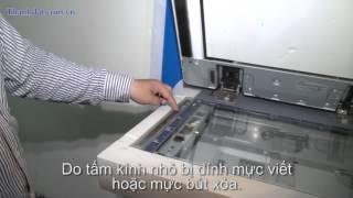 Hướng dẫn xử lí lỗi bản chụp bị vệt kẻ đen trên máy photocopy - http://thanhdat.com.vn/
