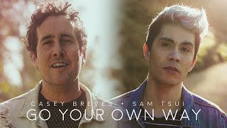 Go Your Own Way - Sam Tsui & Casey Breves (Acoustic Fleetwood Mac Cover)