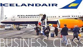 Icelandair BUSINESS CLASS Reykjavik to London|Boeing 757-200