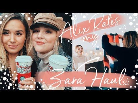 BEST FRIEND RATES MY ZARA HAUL | Hello October Vlogmas