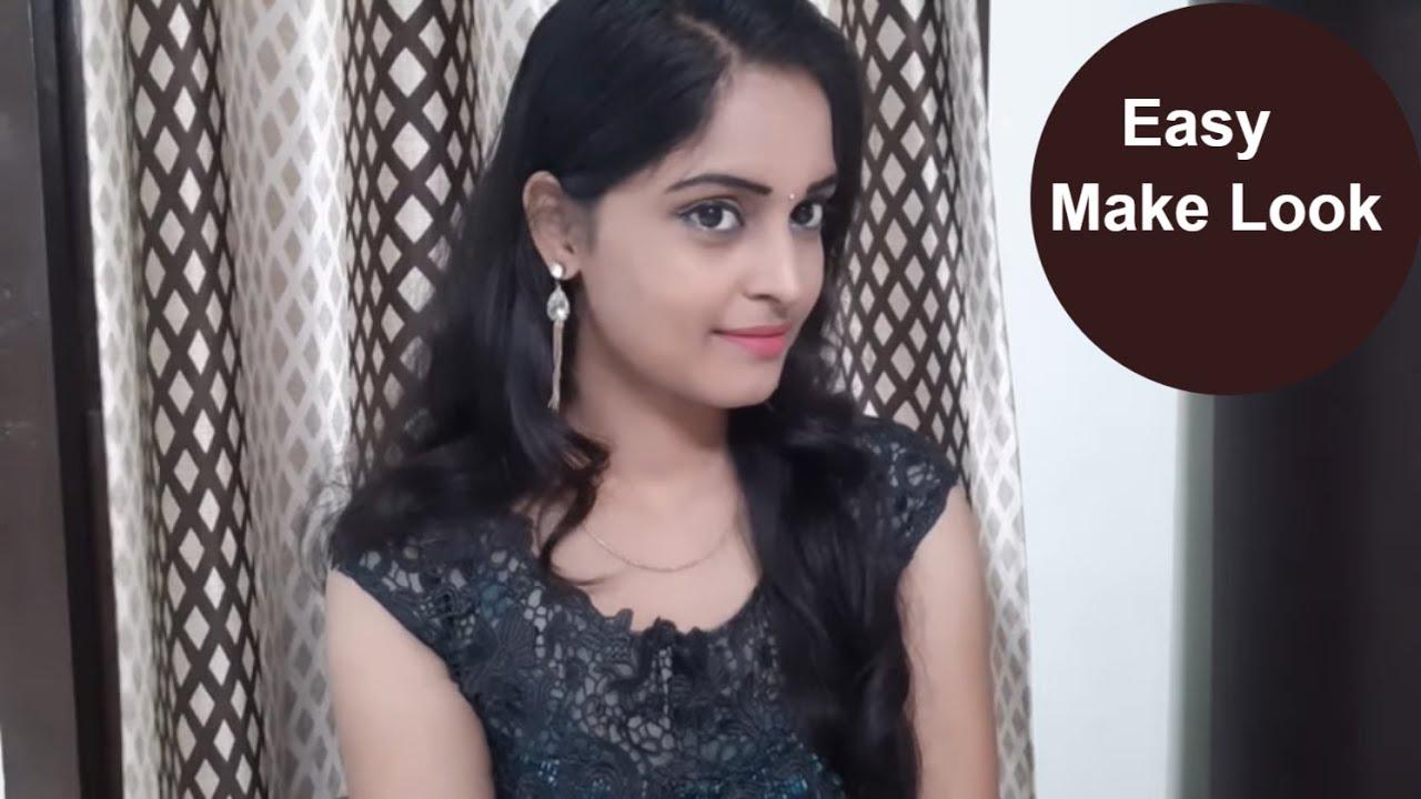 Download indian Festive Simple Makeup look In Telugu      Easy and attractive makeup look  