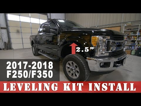 2017-2018 F250 Superduty Leveling Kit Install - Project Leveled on 37's