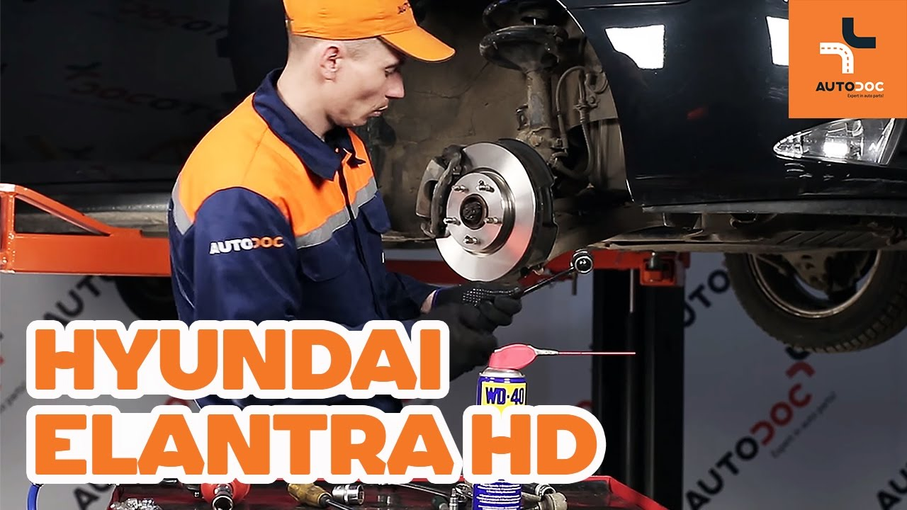 How To Replace Front Anti Roll Bar Link On Hyundai Elantra Hd