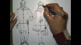 урок ИЗО Рисуем пропорции человека