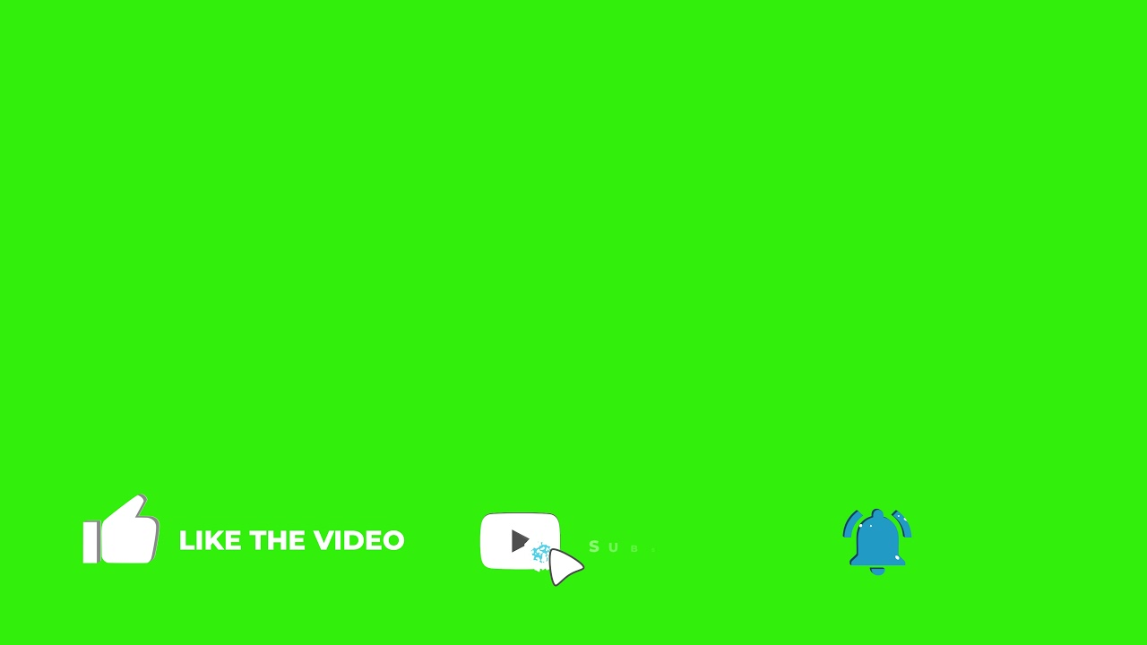 Best Youtuber youtube Subscribe like Buttons and Bell Icon Animation Green Screen