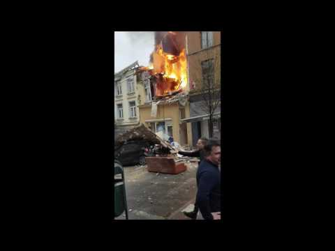 Fire Consumes Brussels Home After Gas Leak Explosion