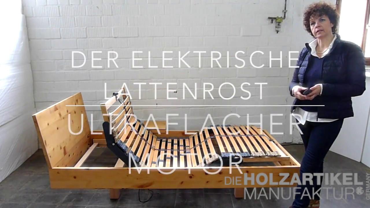 Lattenrost Elektrisch Stiftung Warentest : elektrischer lattenrost mit ultraflachem motor youtube ~ Bigdaddyawards.com Haus und Dekorationen