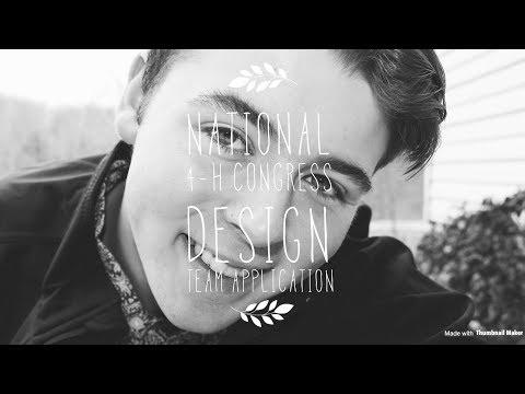 2018 National 4-H Congress Design Team Application