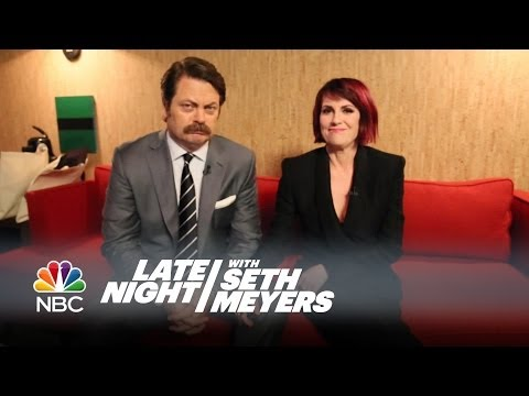 Nick Offerman & Megan Mullally Answer Your Relationship Questions - Late Night with Seth Meyers