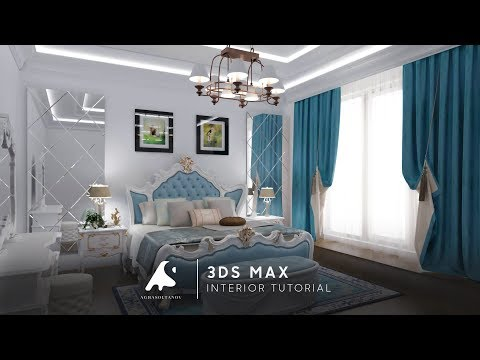3D Max Classic İnterior Modeling Design Vray + Photoshop Tutorial