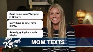 Celebrities Read Texts from Their Moms #3
