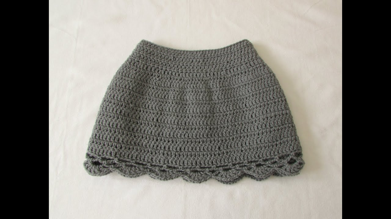How to crochet an EASY lace edge skirt - any size - YouTube