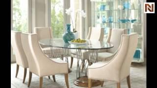 Bernhardt Monterey Oval Dining Table Glass Top 998-9252 Silver Oak