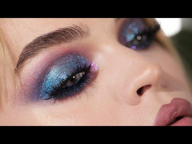 Blue Diamonds - Duochrome blue, purple smokey eyes