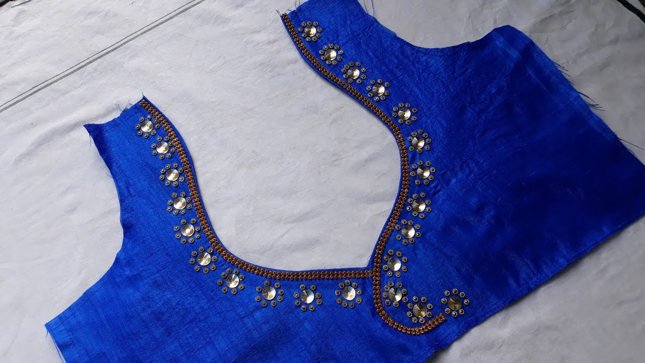 92f0ab32431044 how to make पान गला blouse back neck design with stone and ...