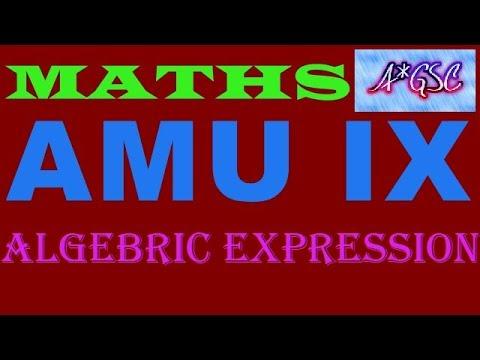 MATHS/ALGEBRIC EXPRESSION/ IX AMU ADMISSION TEST