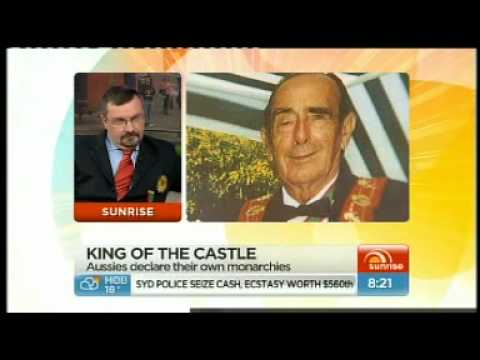 Emperor George II Of Atlantium On Channel 7's Sunrise With Kochie And Mel