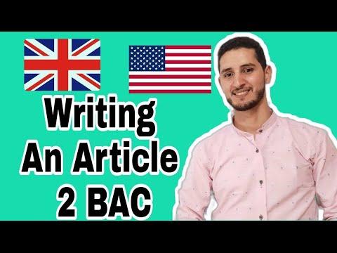 Writing an Article - 2BAC + تصحيح مقالة من إمتحان وطني سابق
