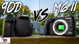 Canon 90D VS Canon M6 Mark II!  Big Power vs Smaller Quality!
