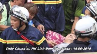 Cháy chung cư Mường Thanh HH4B Linh đàm ngày 16/9/2015