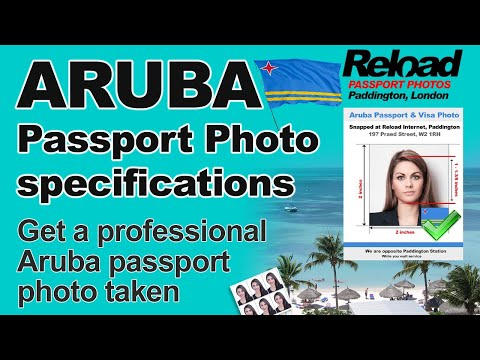 Aruba Passport Photo and Visa Photo snapped in Paddington, London