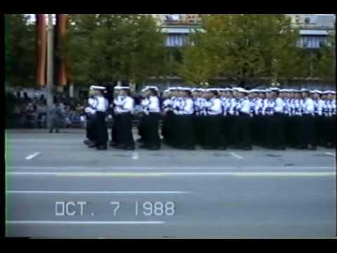 Volksmarine 7 Oct 1988 Parade East Berlin Tag der Republik Part Teil 2