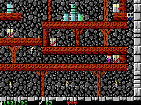 Apogee Crystal Caves I, Troubles With Twibbles, 1991. Level 7 Walkthrough