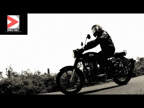 Royal Enfield Classic 500 Stealth Black Review, First Ride, Walkaround