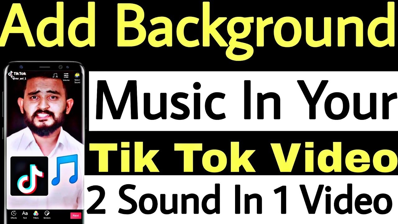 How To Add Background Music In Tik Tok Video Add 2 Sound In One Video Youtube