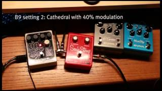 ambient guitar music using electro harmonix b9 organ machine strymon el capistan and blue sky