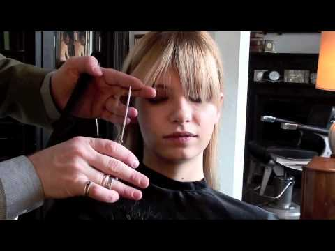 Model Tutorial How To Trim A Fringe Bangs The Professional Way