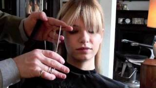 One of Model Recommends's most viewed videos: Model Tutorial: How to trim a fringe (bangs) the professional way! | A Model Recommends