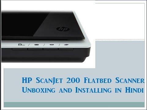 HP Scanjet 200 Flatbed Scanner Unboxing and Installing ...
