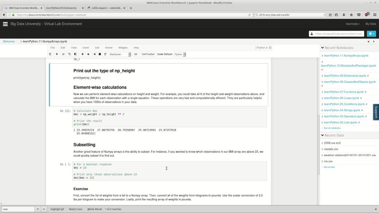 Learn Python : 11: Numpy Arrays