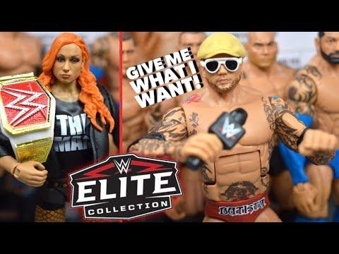 WWE ELITE 72 BATISTA & BECKY LYNCH FIGURE REVIEW!